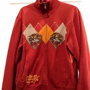 Men's EdHardy zipper sweater size M